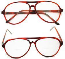 Reading Glasses Bifocal Classic ~ 70-80's Office Style Tortoise Frame +2.00 Lens