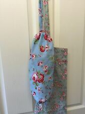 ❤️Cath Kidston Ikea Blue Rosali Fabric Carrier Bag Holder❤️