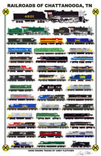 "Railroads of Chattanooga 11""x17"" Railroad Poster by Andy Fletcher signed"