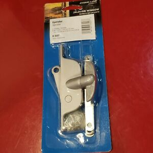 Louver Jalousie Window Operator Handle Alum gray Reversible left or right. H3557