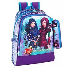 Mochila Disney descendientes Grande Premium + Bolso Escolar Caja de Lápiz