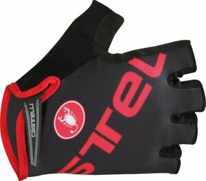Castelli Tempo V Cycling Glove Black/Red, Size Small