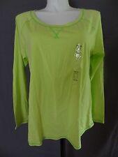 Cacique long sleeve sleepwear shirt top green plus size 22/24 cotton