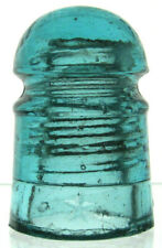 New ListingCd 102 Aqua Star Antique Glass Telegraph Insulator Terrific Little Pony!
