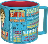 NEW in box Kurt Vonnegut Coffee Cup Mug The Unemployed Philosophers Guild