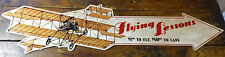 Flying Lessons Wright Brothers Plane Flight $1.00 Fly $50 Land Metal Arrow Sign