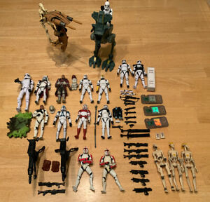 """Star Wars 3.75"""" Action Figure Lot - 18 Figures 2 Vehicles + Accessories - Loose"""