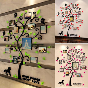 DIY Removable Family Photo Frame Pictures Tree Wall Hanging Room Sticker Decal F