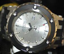Invicta Men's Rare Subaqua Swiss Reserve GMT Silver Dial Black Poly Watch 12034