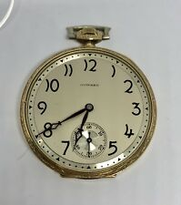 E. Howard Watch Co Gold Filled Art Deco Pocket Watch Size 12 c.1920's