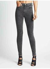$98 Guess 1981 High Rise Skinny Jeans In Black Acid Wash Size 23