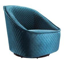 Zuo Modern Pug Swivel Chair, Quilted Aquamarine - 100251