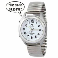 ATOMIC! Talking Analog Watch for the Blind w/Alarm,Speaks Time, Day, Date #1361