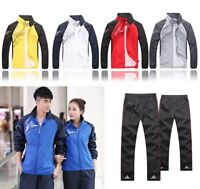 2PCS Men Sport Sweater Casual Tracksuit Sport Suit Jogging Athletic Jacket+Pants