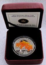 2012 Canada 9999 Silver $20 Dollars Maple Leaf CRYSTAL RAINDROP Proof