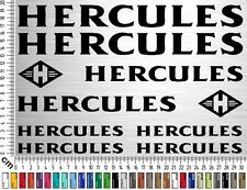Conjunto retro HERCULES | Etiqueta engomada del marco de la bicicleta. Etiquetas engomadas del marco de la bici | 10 etiquetas