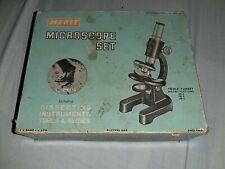 Vintage Merit J&L Randall Ltd Microscope Set 1964 incomplete/spares & repairs