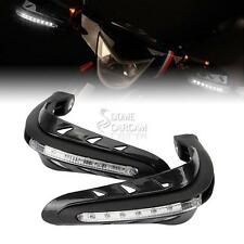 Black Handguard w/ LED Turn Signals For Suzuki DR DR-Z RM RMX 125 200 250 350 80
