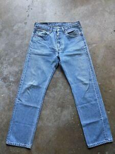 VTG Levis 501xx Mens 31x29 Original Straight Button Fly Jeans Light Wash USA