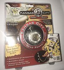 On Tv! Brand New! Free Ship Kansas City Railroad Pocket Watch As Seen