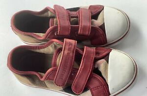 Burberry toddler  Shoes 7  Check Canvas Sneakers 27/ 7 Us Toddler mink