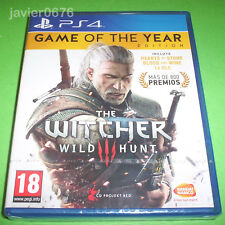 THE WITCHER 3 WILD HUNT GOTY NUEVO Y PRECINTADO PAL ESPAÑA PLAYSTATION 4 PS4