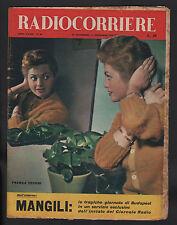 RADIOCORRIERE 48/1956 BERGAMINI FILIPPINI FRAGNA BUDAPEST MANGILI MELBOURNE