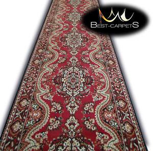 Modern Hall Carpet Runner BCF SPRING red Stairs Width 70cm-160cm extra long RUGS