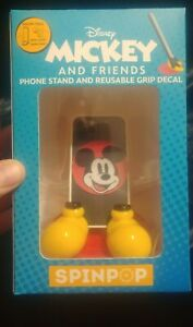 Spin Pop Disney Mickey and Friends Phone Stand & Reusable Grip Decal NEW