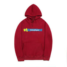 Autumn Solid Letter Printing Hoodies - Wine Red