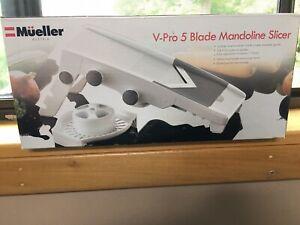 Müeller Austria V-Pro 5 Blade Adjustable Mandoline Slicer - White/Grey