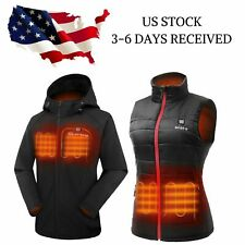 ORORO Women Heated Jacket Heated Vest with Battery Pack Winter Outdoors Clothing