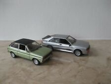 2 x Modellauto Detail Cars Audi Quattro 1982 Coupe, Ford Fiesta 1:43 ohne OVP
