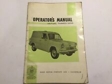 FORD THAMES VANS OWNERS OPERATOR'S handbook DRIVERS MANUAL 5 7cwt 1L 1.2L 61-64