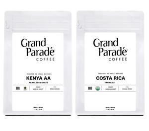 Organic Costa Rican & Kenya AA Fresh Medium Roasted Ground Coffee, 1 LB Each