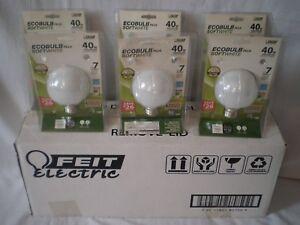 CASE OF (6) FEIT ELECTRIC 11W STANDARD ECOBULB PLUS SOFT WHITE 120V LIGHT BULBS