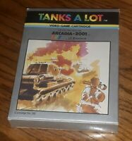 Tanks A Lot Arcadia 2001 Emerson Game Cartridge Complete w box manual overlays