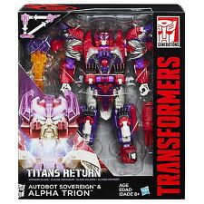 Transformers Generations Titans Returns Voyager Class Sovereign and Alpha Trion