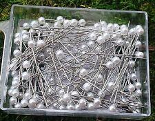 25 Rosennadeln weiß 4cm Perlennadel Tischdeko Hochzeit Taufe kleine Stecknadel