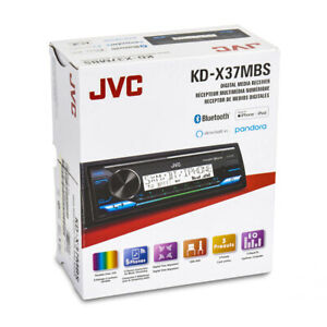 JVC KD-X37MBS 1-DIN Marine Stereo In-Dash MP3 Bluetooth Digital Media Receiver