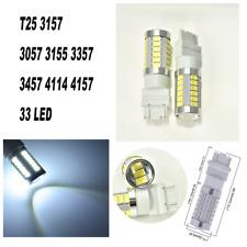 White Rear Turn Signal Light T25 3057 3157 4157 33 LED Bulb A1 For Honda LA