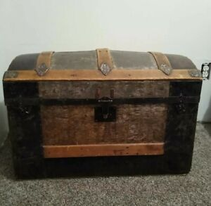 1880s Dome Top Steamer Trunk