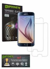 KRYPTONITE Samsung Galaxy S6 Tempered Glass Screen Protector-2 Pack, Bubble free
