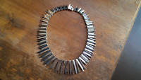 Taxco Mexico Sterling Silver Modernist Necklace ~ 139 Grams