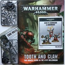 40K Genestealer Cults Abominant, Acolyte Iconward, Tooth & Claw Mission Book 8th