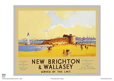NEW BRIGHTON WIRRAL POSTER VINTAGE RAILWAY TRAVEL RETRO ADVERTISING MERSEY