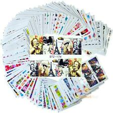 100 Sheets Nail Stickers Flowers Cartoon Art Full Cover Manicure Decor Decal