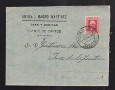 1932.- FUENTE DE CANTOS (BADAJOZ) A JEREZ DE LA FRONTERA (CADIZ)