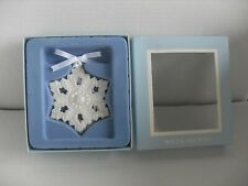 Wedgwood White Glossy Snowflake Ornament with Box Mint