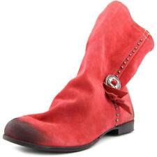 Botas de mujer botines de piel color principal rojo